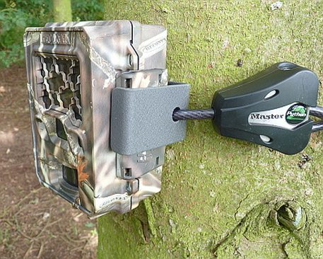 Reconyx C bracket securely in place using Python Cable Lock