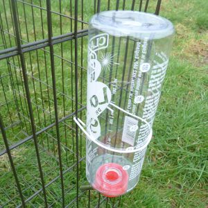Plastic bottle drinker for cage birds and animals