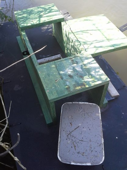 Easily inspecting and removing tracking cartridge from PERDIX mink raft