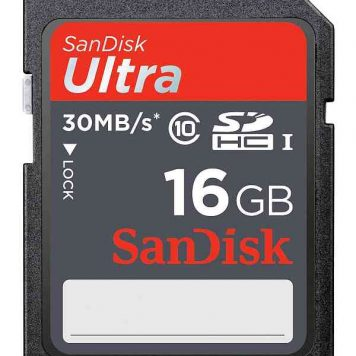 SanDisk Ultra SDHC memory cards