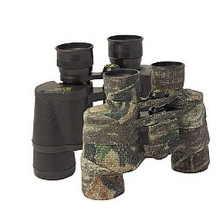 Binoculars camouflaged using Camoform wrap
