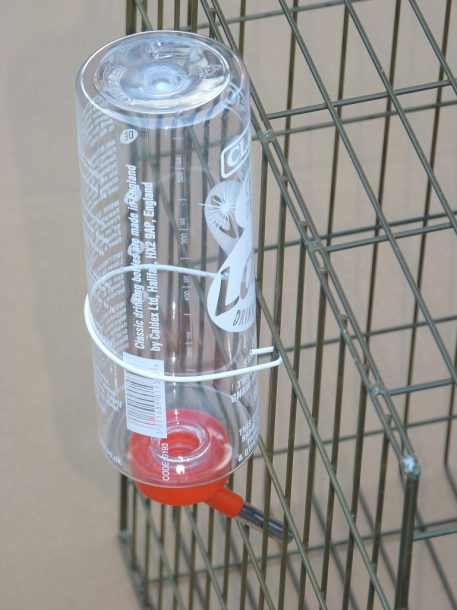 Bottle drinker attached to PERDIX Larsen Trap
