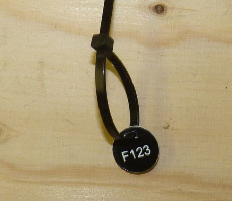 cable ties for attaching trap ID tags