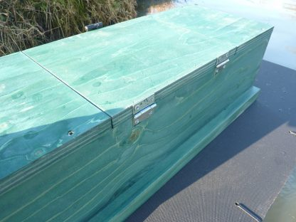 Two hinges on the PERDIX Mink raft tunnel inspection hatch