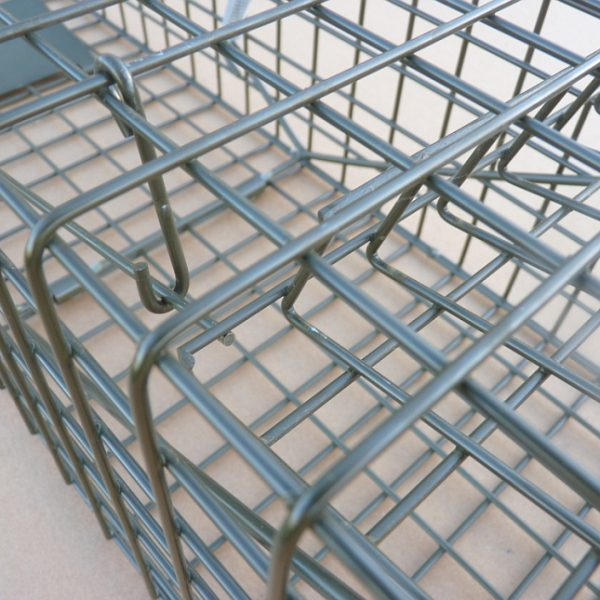 PERDIX Squirrel cage trap in set position.