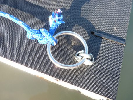 Stainless steel tethering ring on PERDIX Mink raft