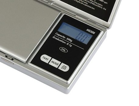Pesola MS500 electronic scale screen