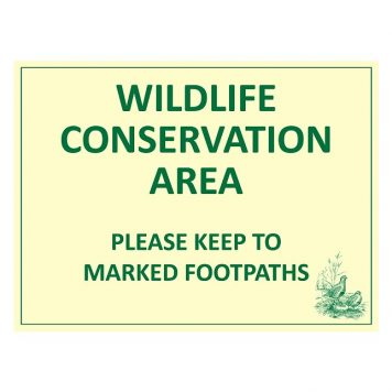 Wildlife conservation area sign for farms and estates