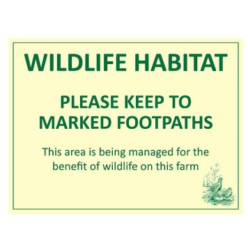 Wildlife habitat warning sign