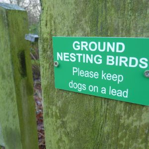 Ground nesting birds farm gate sign
