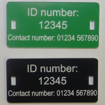 Larsen trap user ID trap tags for Crow and Magpie traps in Scotland