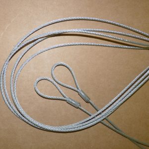 Mink raft tethering galvanised steel cable