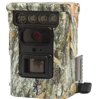 Front view of the Browning Defender 850 including Bluetooth and WiFi connectivity via the Browning Trail Cameras mobile app.