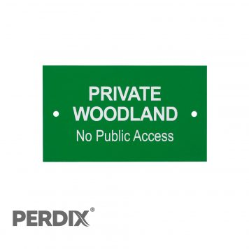 Private Woodland No Public Access Gate Sign