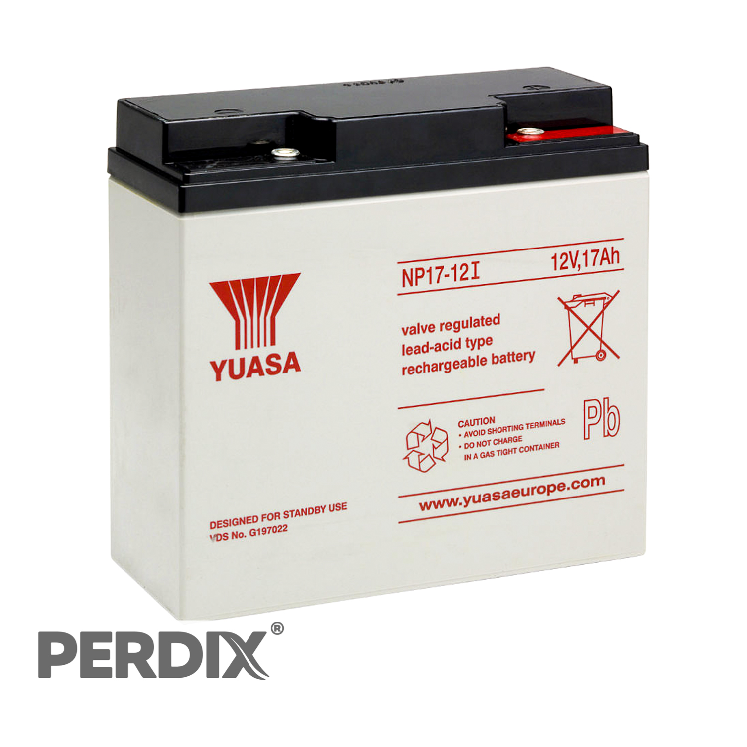 Yuasa Np17 12v Sealed Lead Acid Battery Perdix Wildlife Supplies Sealedleadacid Charger Circuits