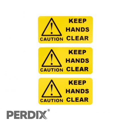 Keep Hands Clear Label