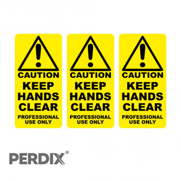 Keep Hands Clear - Professional Use Only - Labels